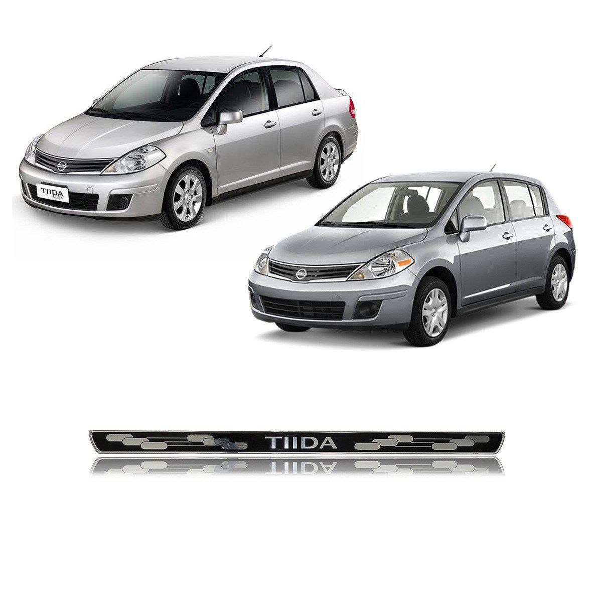 Soleira Porta Tiida Hatch e Sedan Resinada Elegance