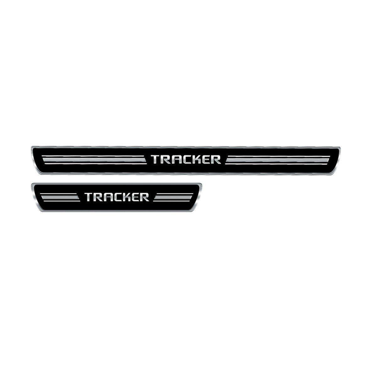 Soleira Porta Tracker 2014 em diante Resinada Premium Elegance