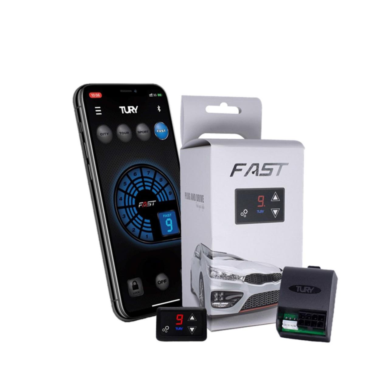 Chip Acelerador Eletrônico com Bluetooth Pedal Delay Tury Fast FAST2.0O