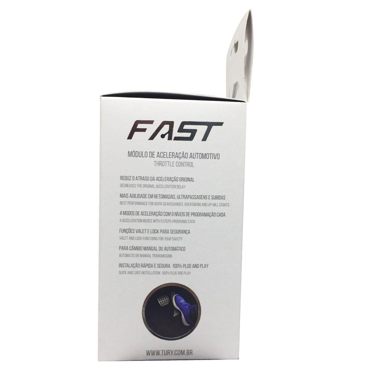 Módulo Acelerador Eletrônico para Nissan Renault com Bluetooth FAST2.0C Tury