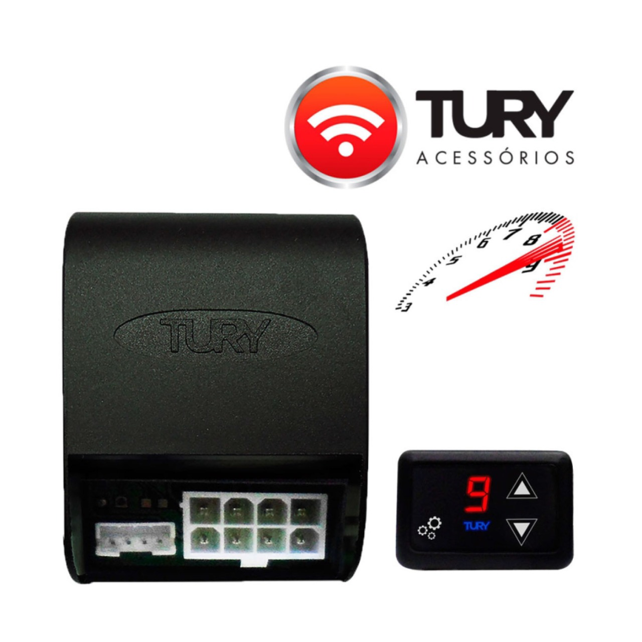 Módulo Acelerador Eletrônico para Toyota Corolla Cross com Bluetooth FAST2.0A Tury