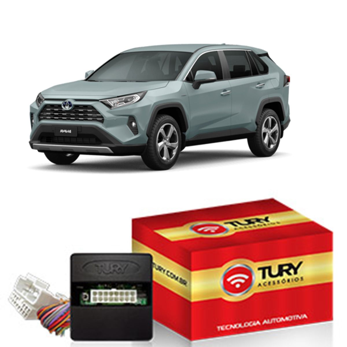 Módulo Rebatimento Retrovisor Elétrico Toyota RAV4 2020 Tilt Down Plug & Play Tury PARK 6.9.7 DK
