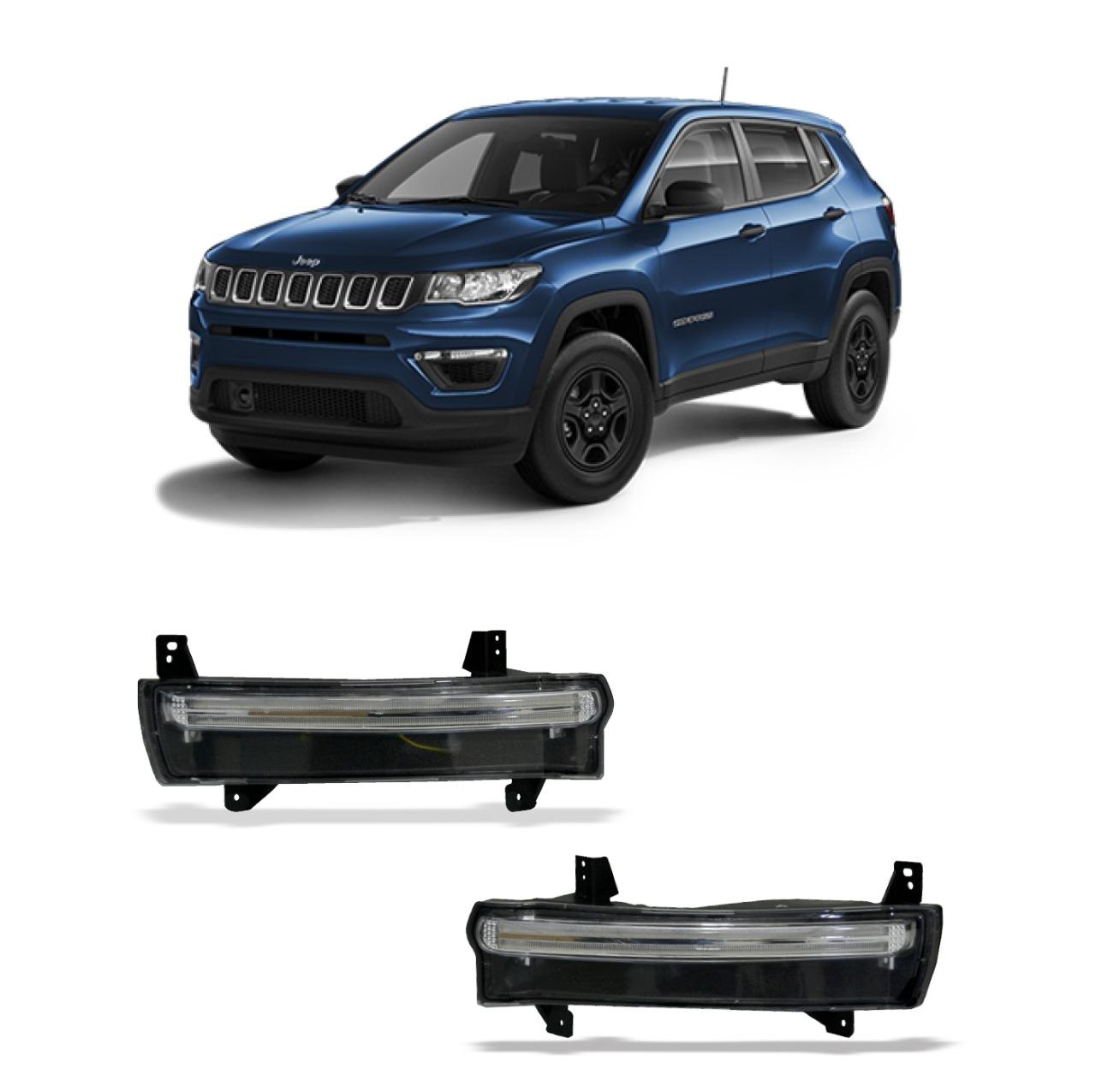 Moldura Jeep Compass com DRL e Seta 2017 á 2019 Suits