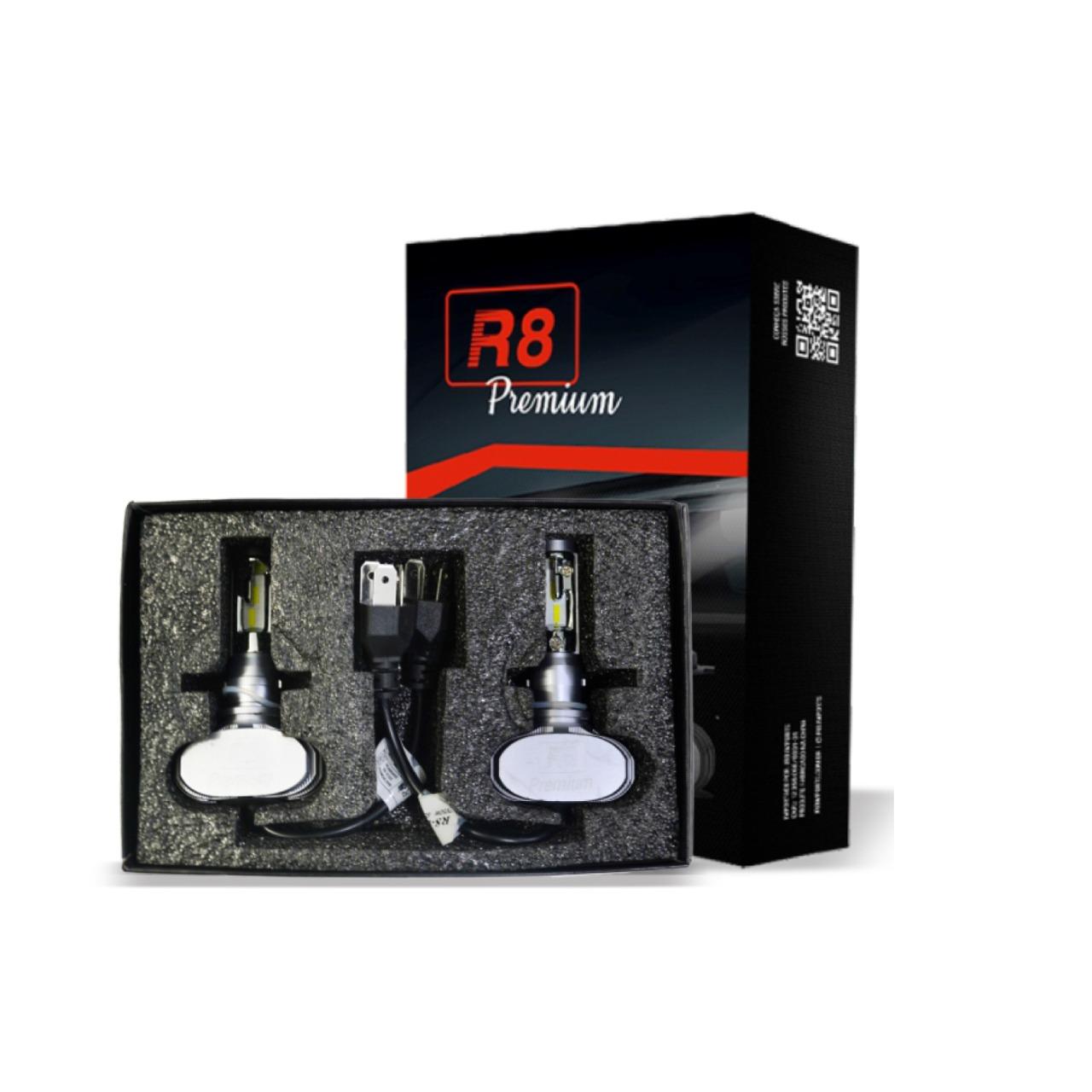 Par de Lâmpada Headlight Led Premium H4 6000K JR8