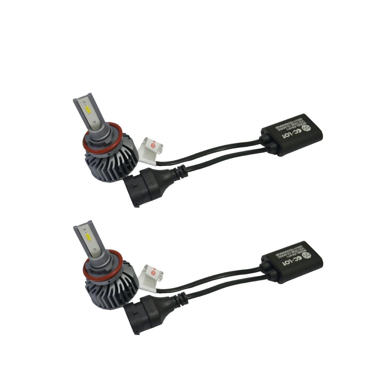 Par de Lâmpada Led H11  6000K Com Canceller CC-LOT