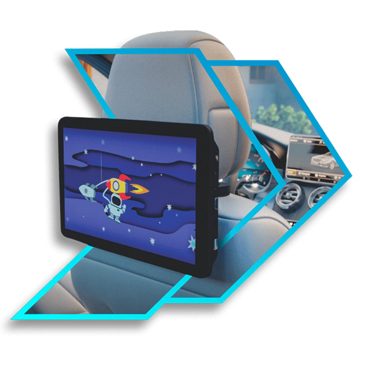 Par de Tela Encosto Cabeça Acoplavel Full HD Android 10 Faaftech FT-RSE