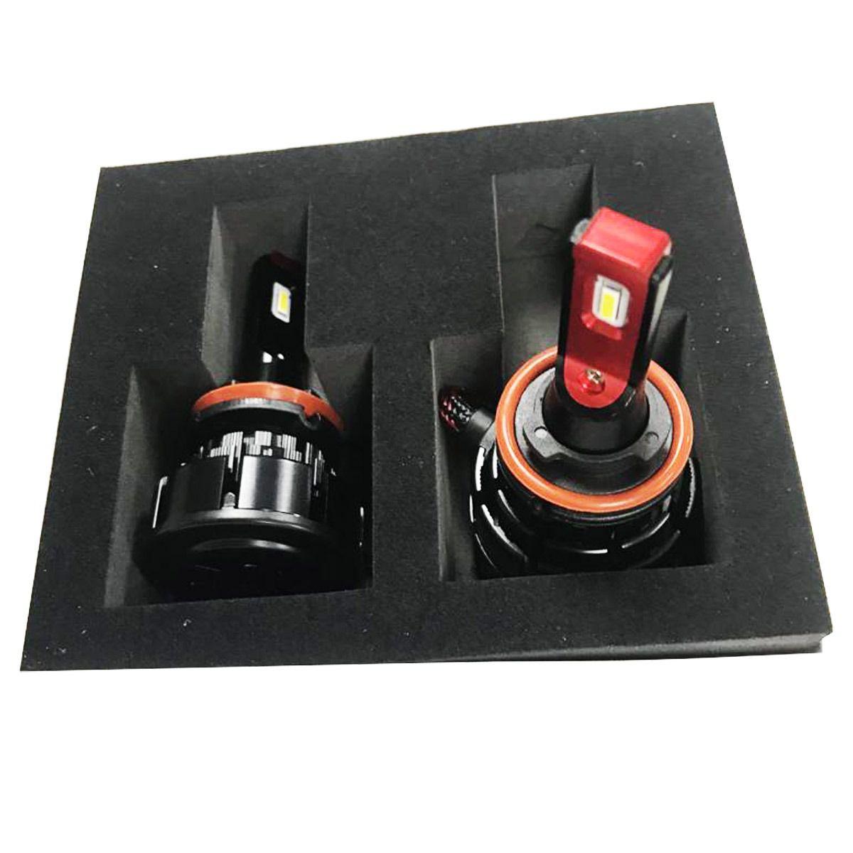 Par Lâmpadas Smart LED H27 6000K 70W Cooler Integrado Tay Tech