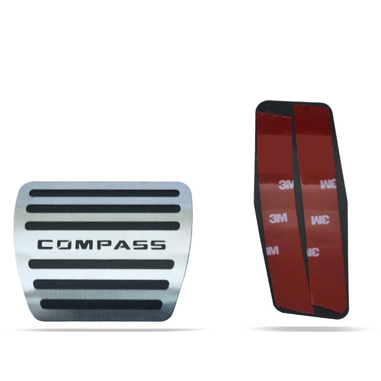Pedaleira para Compass 2017 em diante Automático em Aço Inox