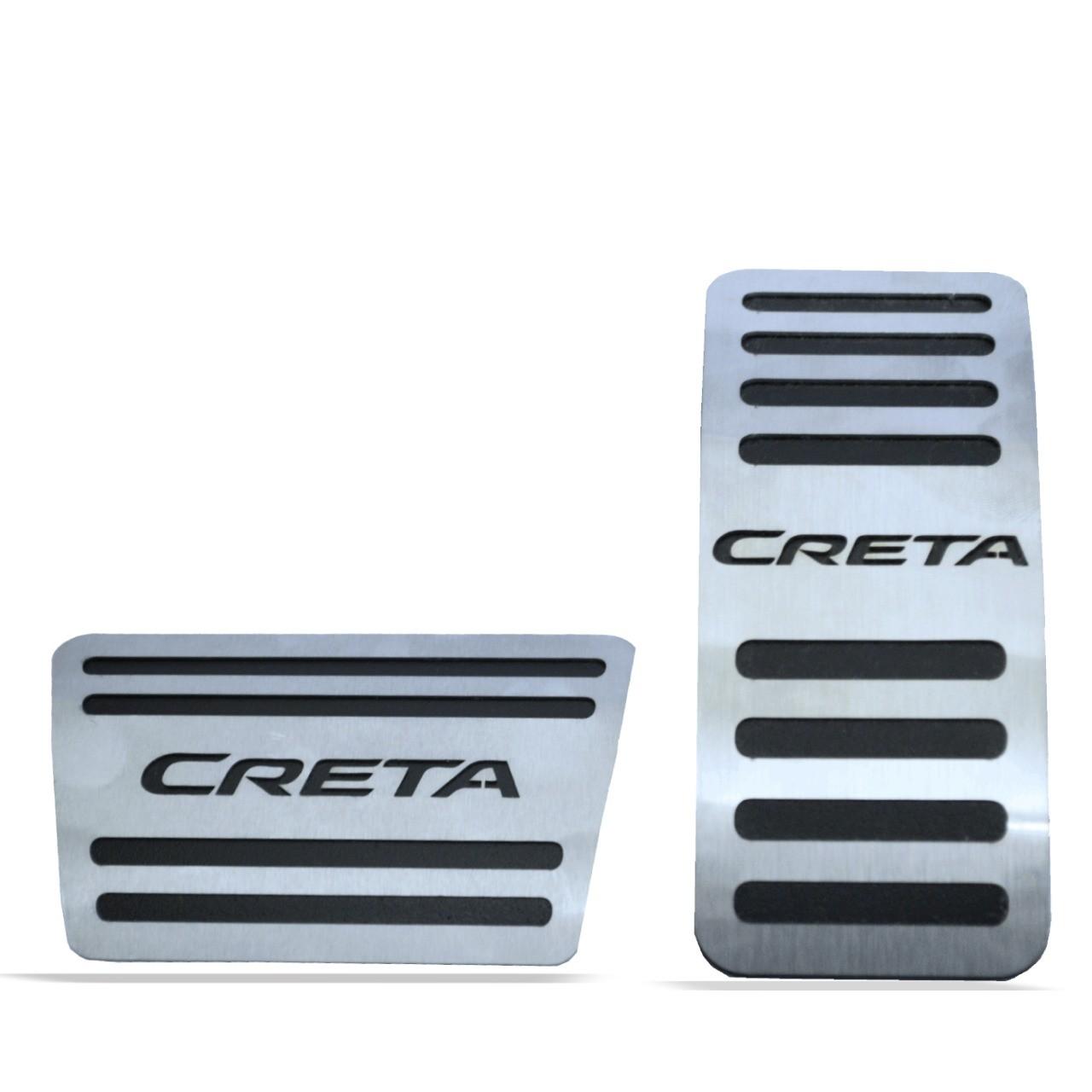 Pedaleira para Creta Automático em Aço Inox