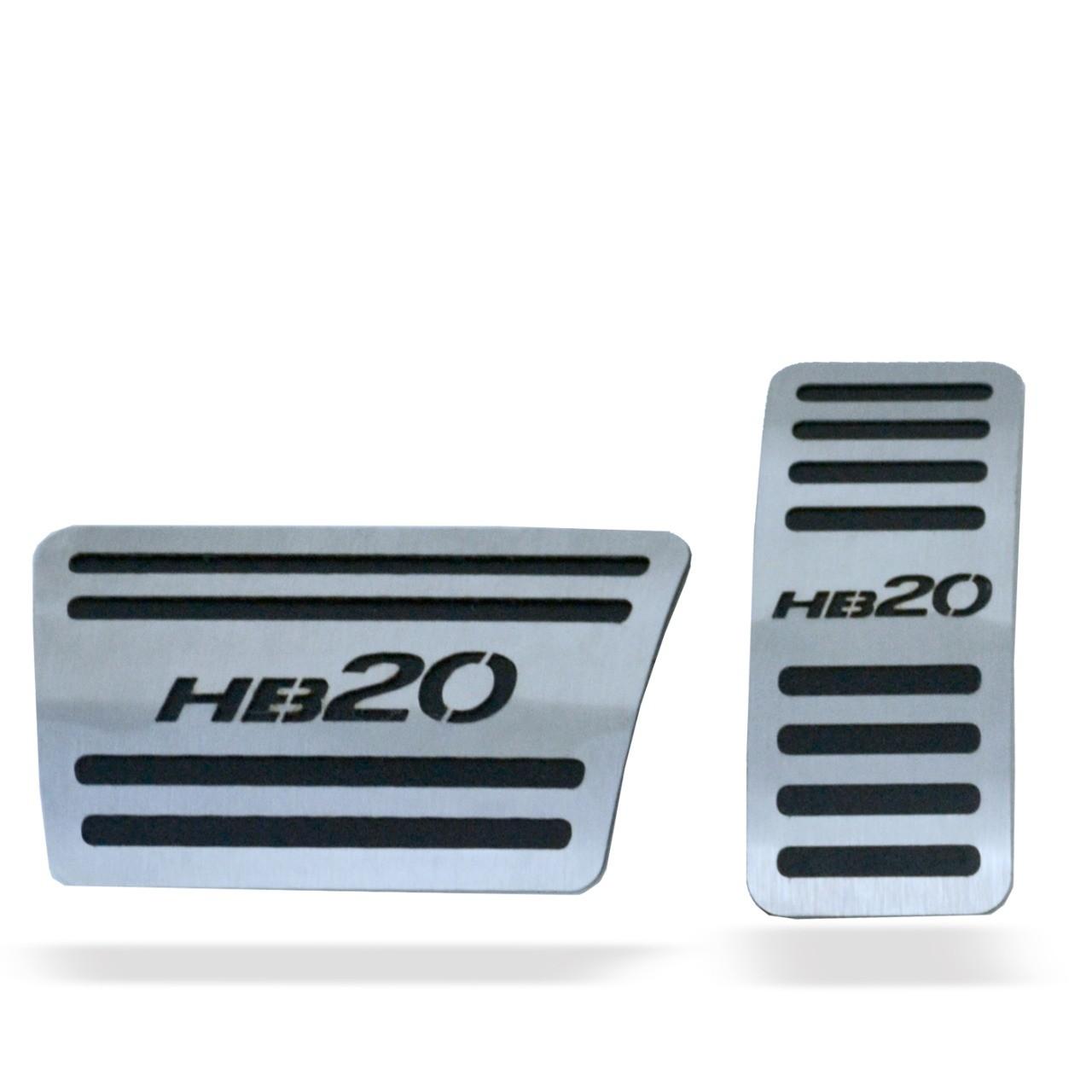 Pedaleira para HB20 Automático em Aço Inox