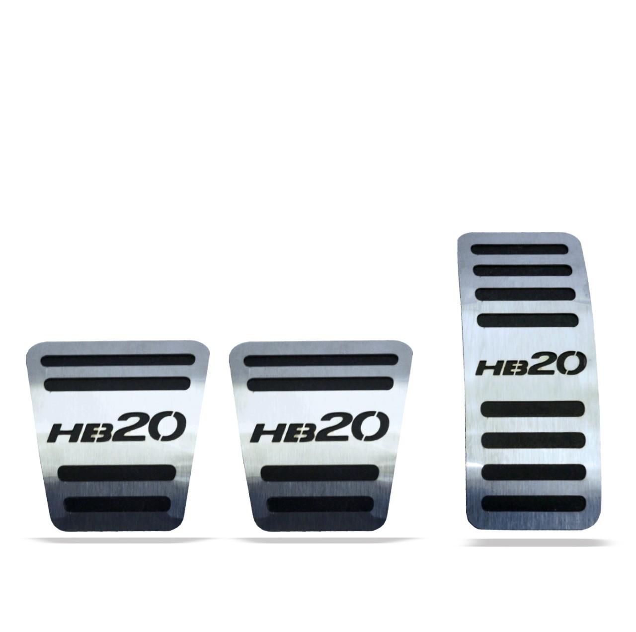 Pedaleira para HB20 Manual em Aço Inox