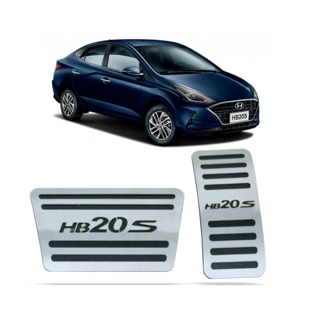 Pedaleira para HB20S Automatico em Aço Inox