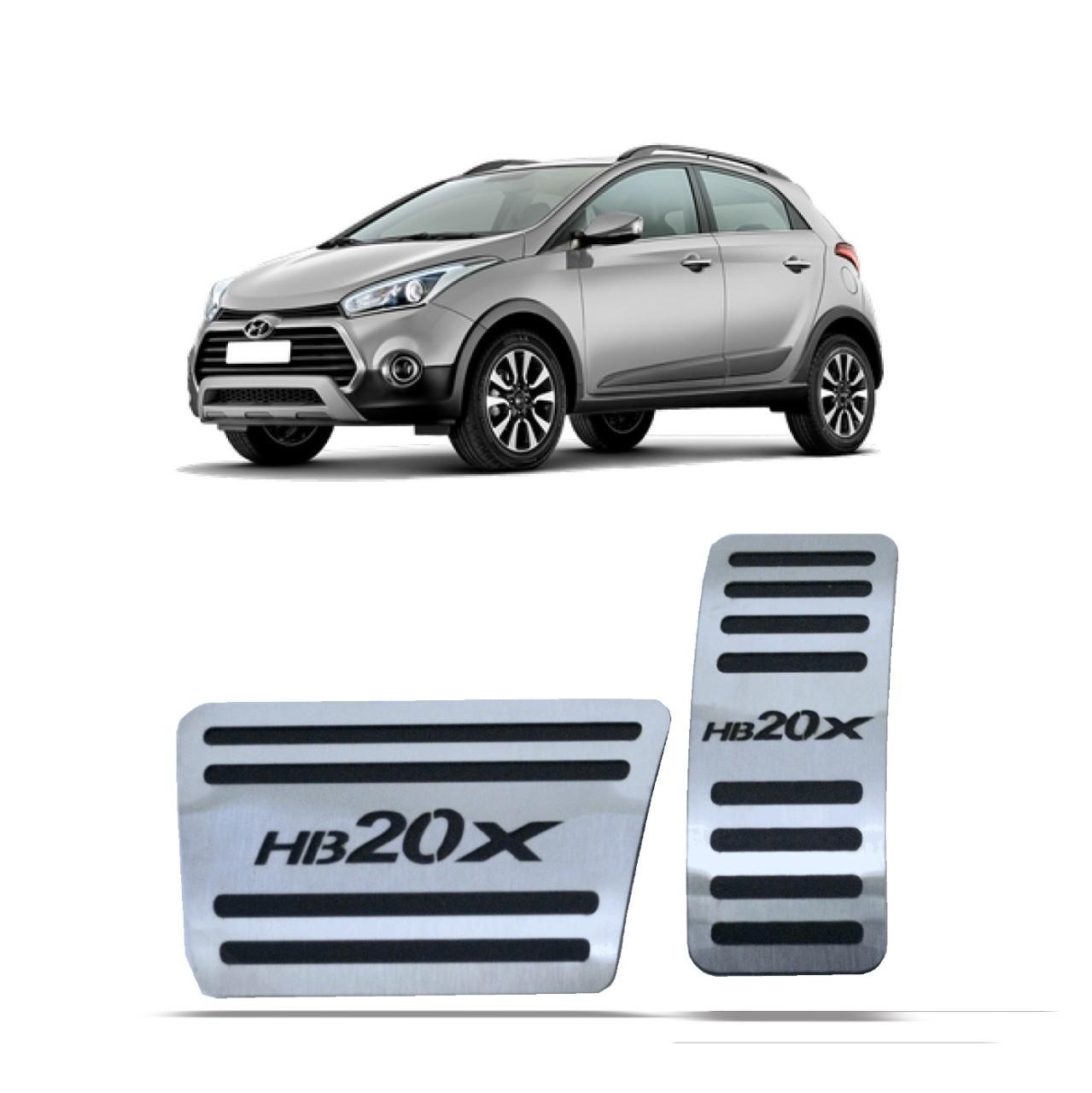 Pedaleira para HB20X Automatico em Aço Inox