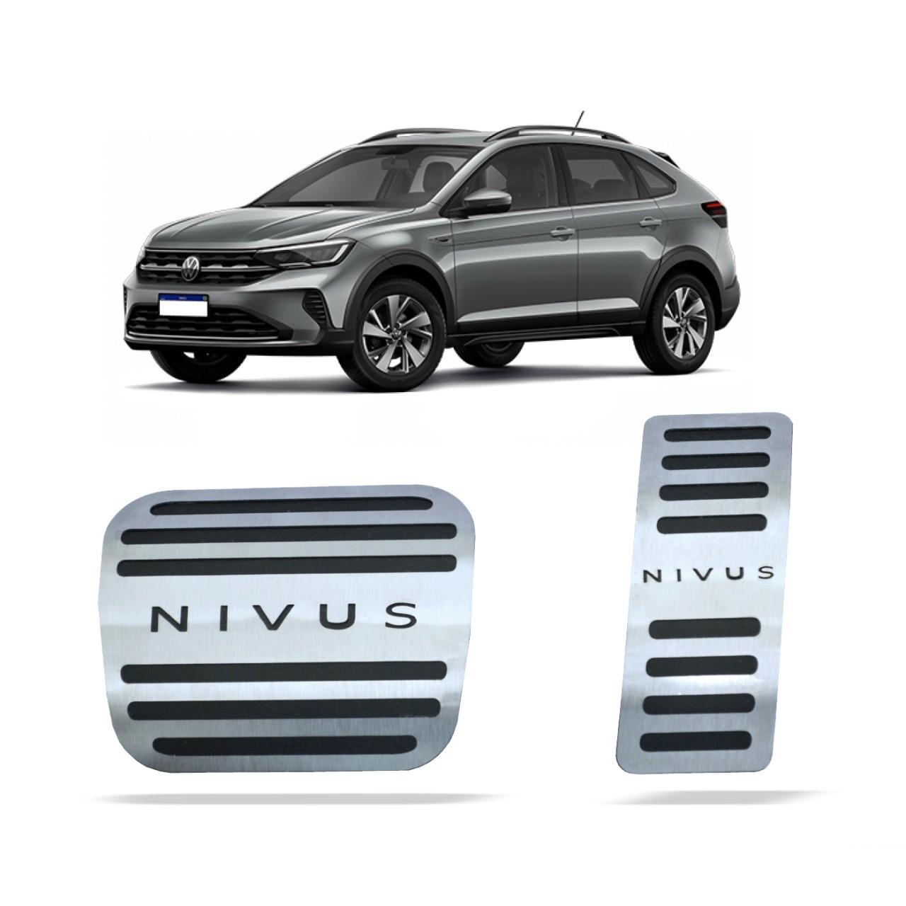 Pedaleira para Nivus Automático em Aço Inox