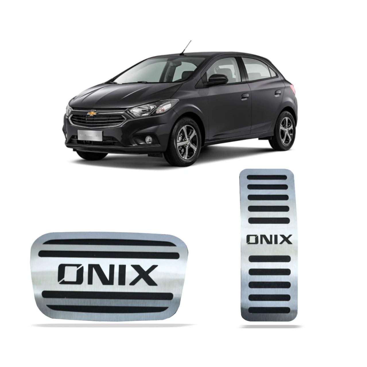 Pedaleira para Onix Automático em Aço Inox