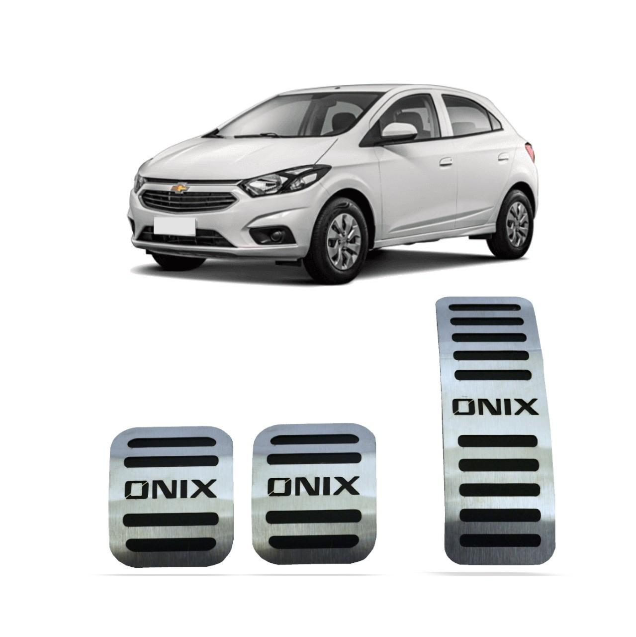 Pedaleira para Onix Manual em Aço Inox