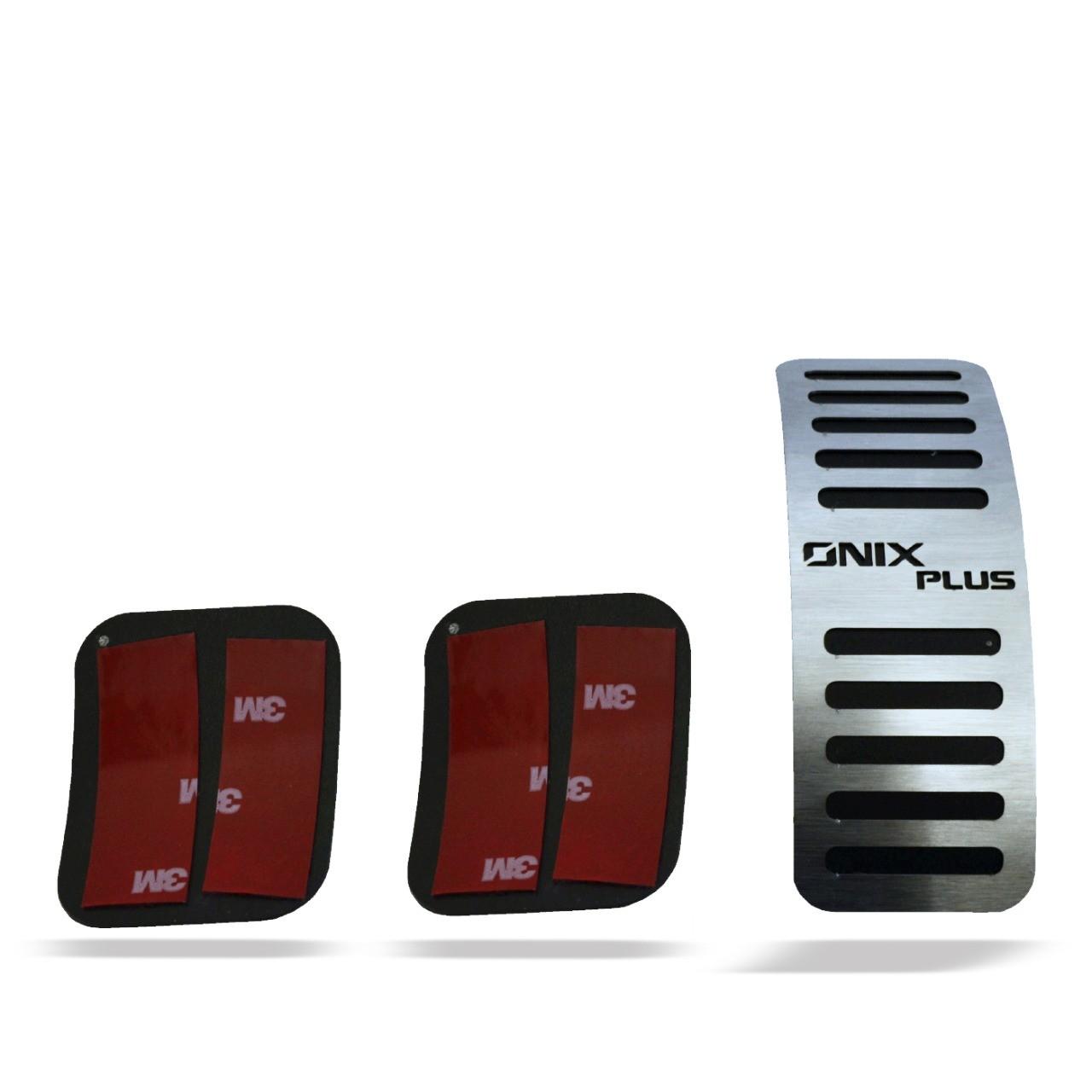 Pedaleira para Onix Plus Manual em Aço Inox