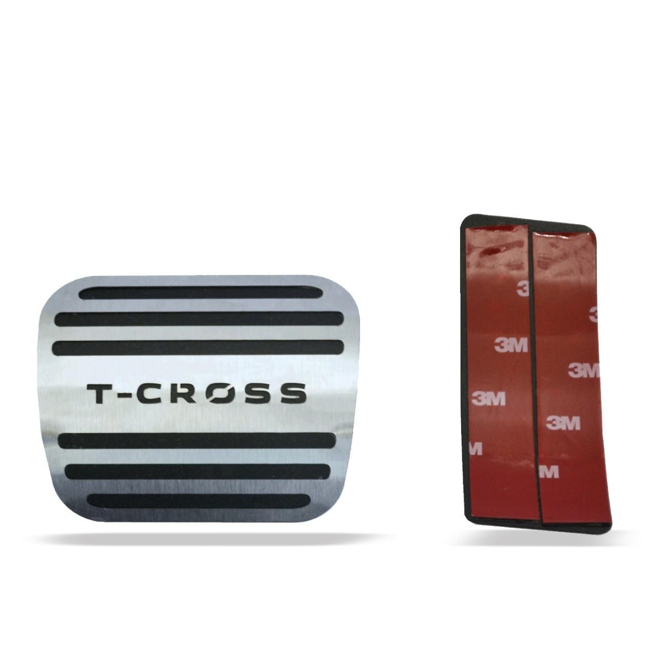 Pedaleira para T-Cross Automático em Aço Inox