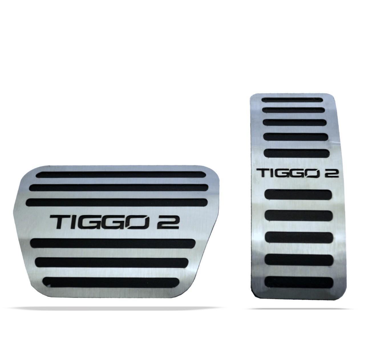 Pedaleira para Tiggo 2 Automatico em Aço Inox