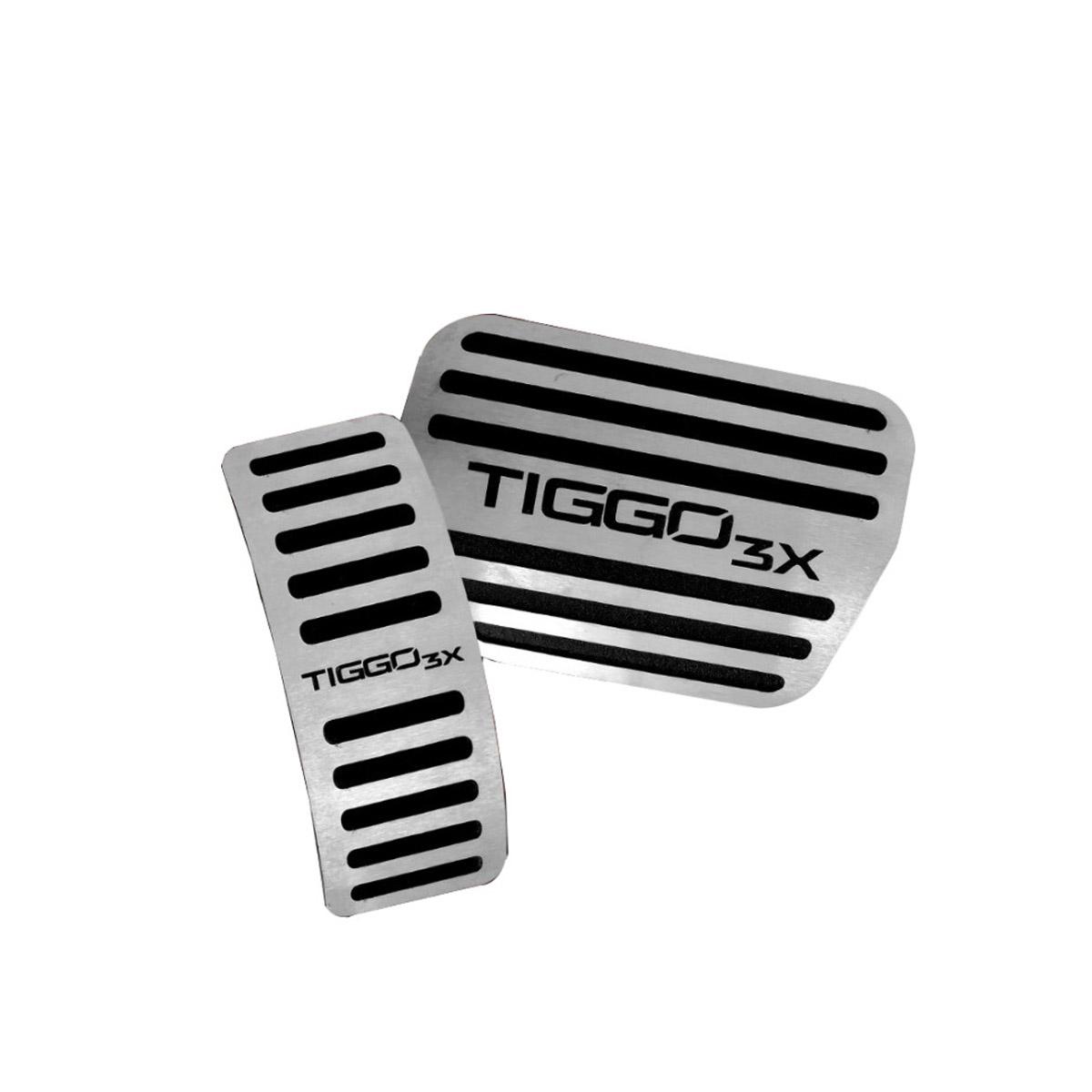 Pedaleira para Tiggo 3X Automatico em Aço Inox