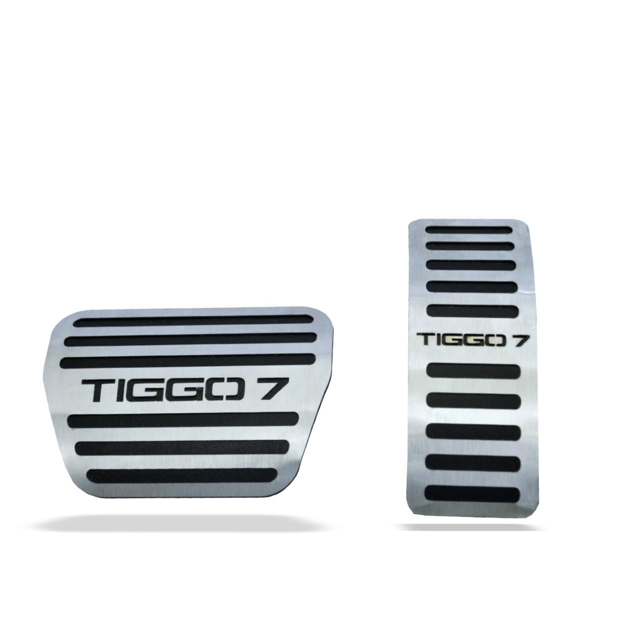 Pedaleira para Tiggo 7 Automatico em Aço Inox