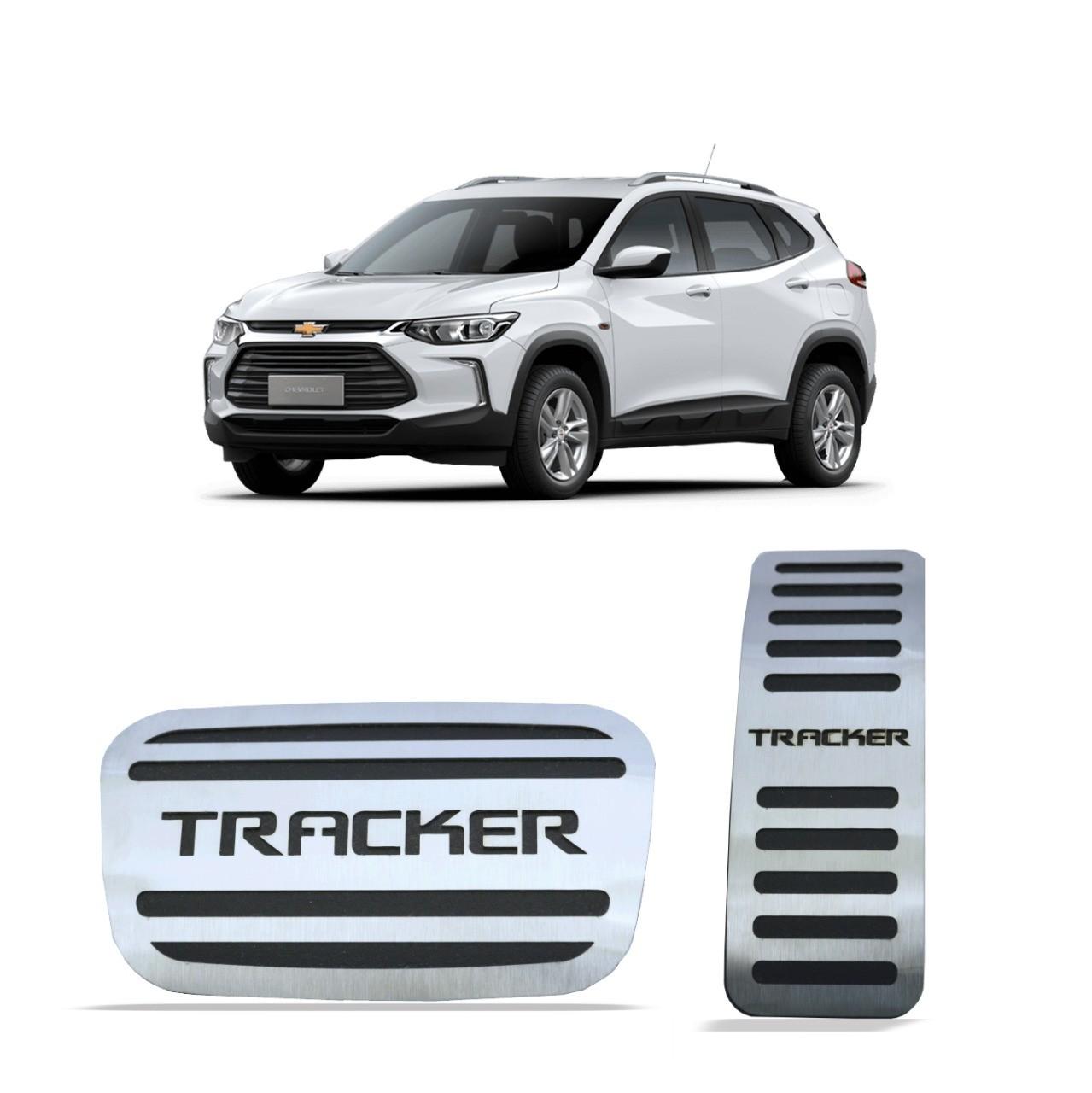 Pedaleira para Tracker 2020 em diante Automático em Aço Inox