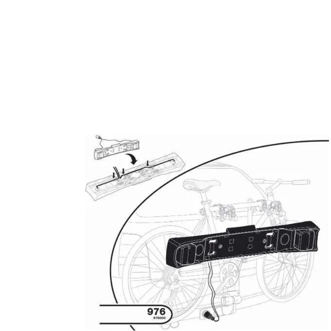 Placa com Luzes Thule para Suporte de Bicicleta 976