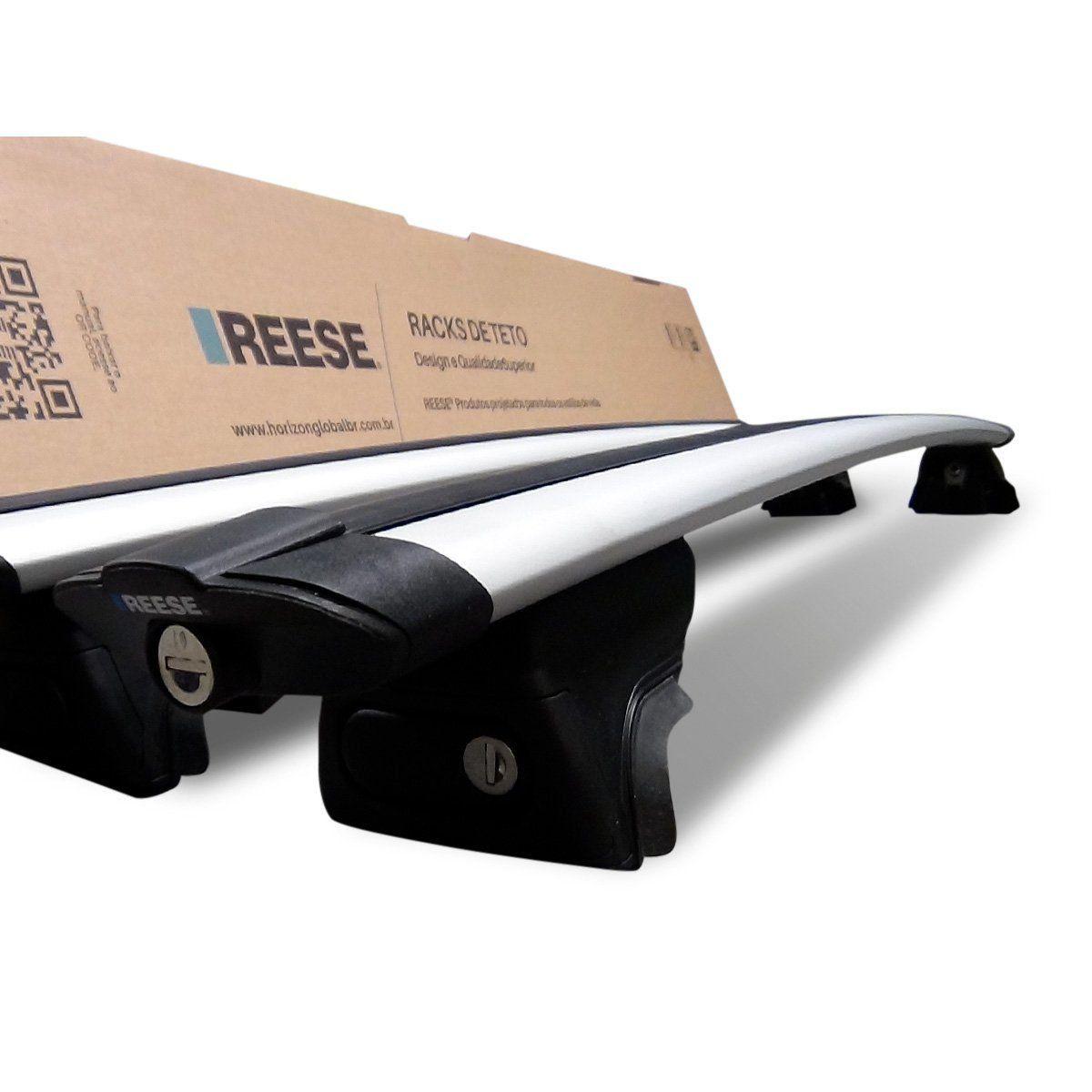 Rack de Teto Bagageiro Compass Creta SW4 Sorento e Soul Prata Reese Premium