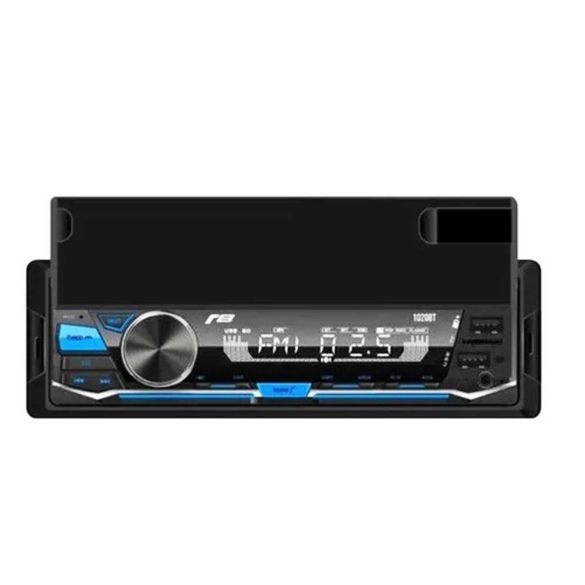 Auto Rádio Automotivo JR8  Suporte para Celular USB SD Bluetooth 1020BT