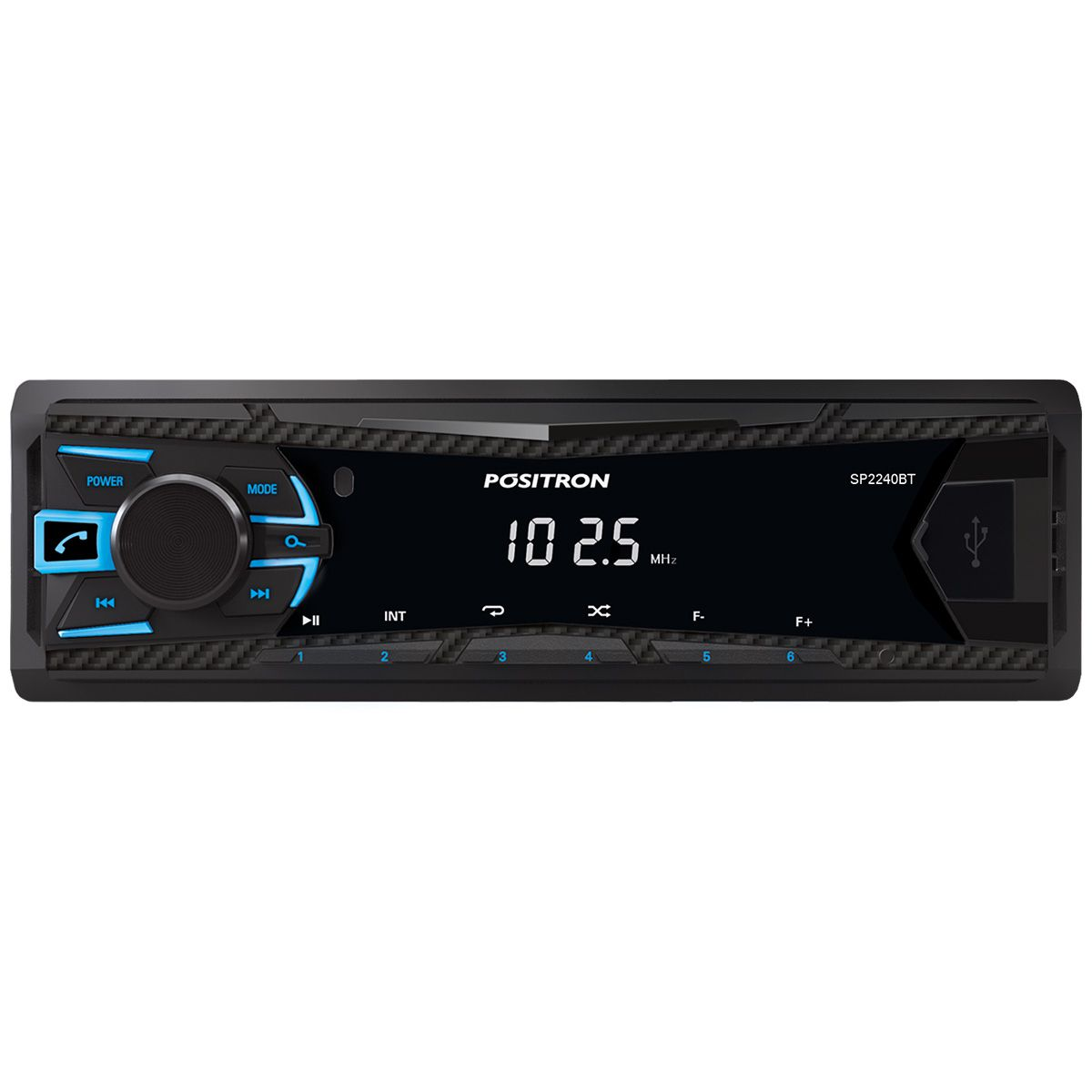 Rádio MP3 Player Automotivo Pósitron Bluetooth USB FM Aux SP2230BT