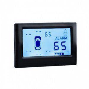 Sensor de Ré Estacionamento 8 Sensores Branco Com Display