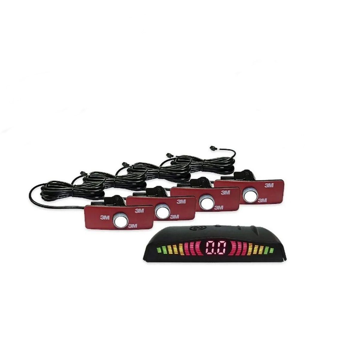 Sensor de Ré Estacionamento de Embutir 4 Pontos Branco OEM Orbe