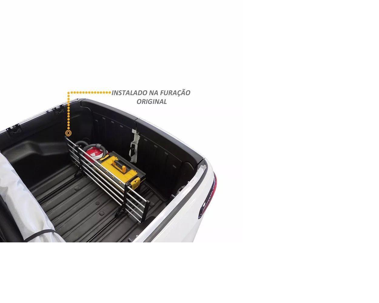 Separador de Cargas p/ Pickup Flash Cargo Alumínio Ajustável