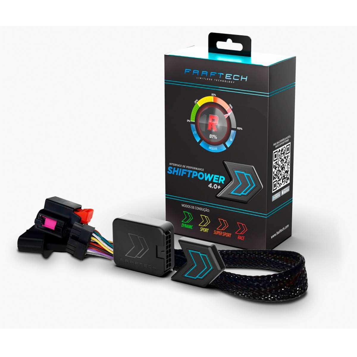 Shift Power Novo 4.0+ Ssangyong Chip Acelerador Plug Play Bluetooth Faaftech FT-SP17+