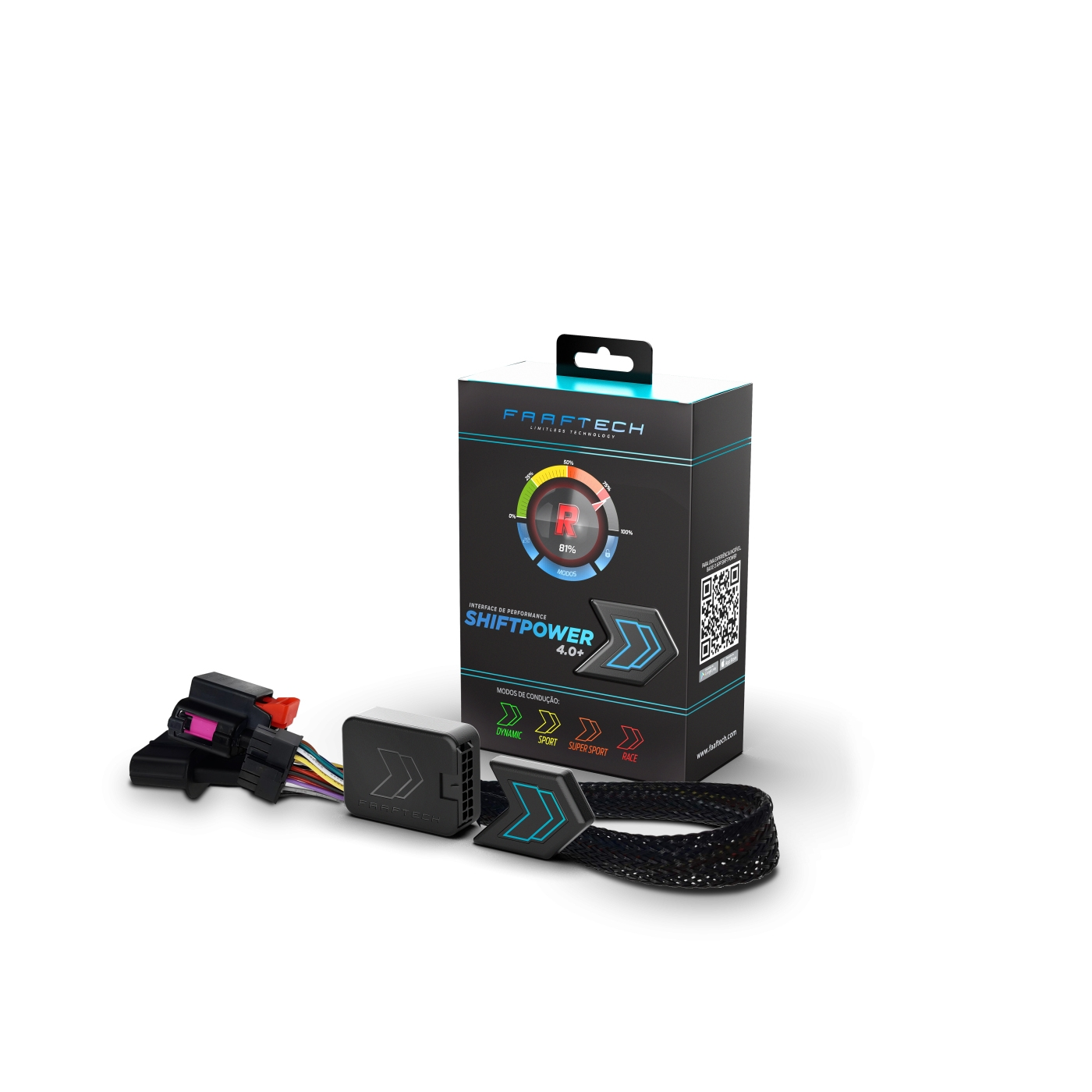 Shift Power para Honda Chip Acelerador Plug Play Bluetooth Faaftech FT-SP20+