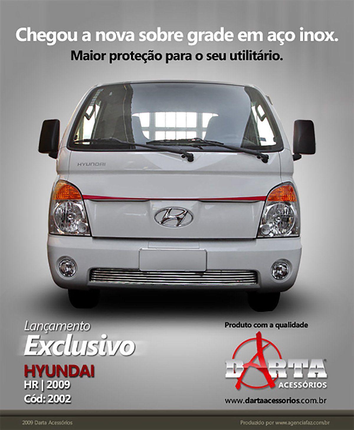 Sobre Grade Cromada Aço Inox Hyundai HR 100 2009 a 2012 Darta