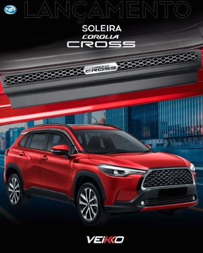 Soleira de Porta Corolla Cross 2022 em diante Resinada Modelo Elegance