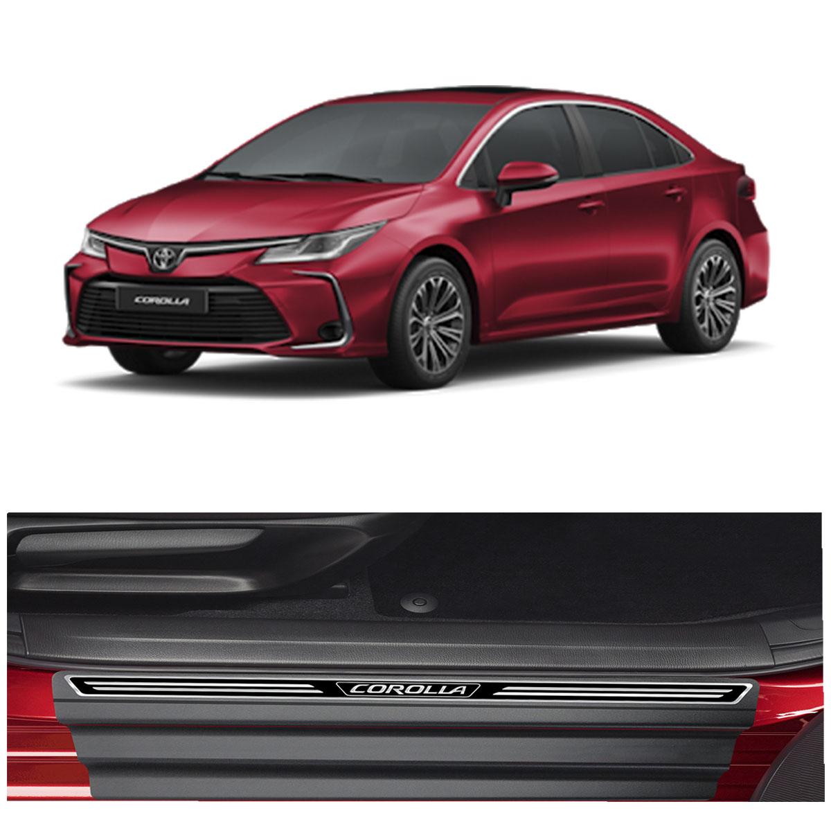 Soleira de Porta Corolla 2020 em diante Resinada Premium Modelo Elegance