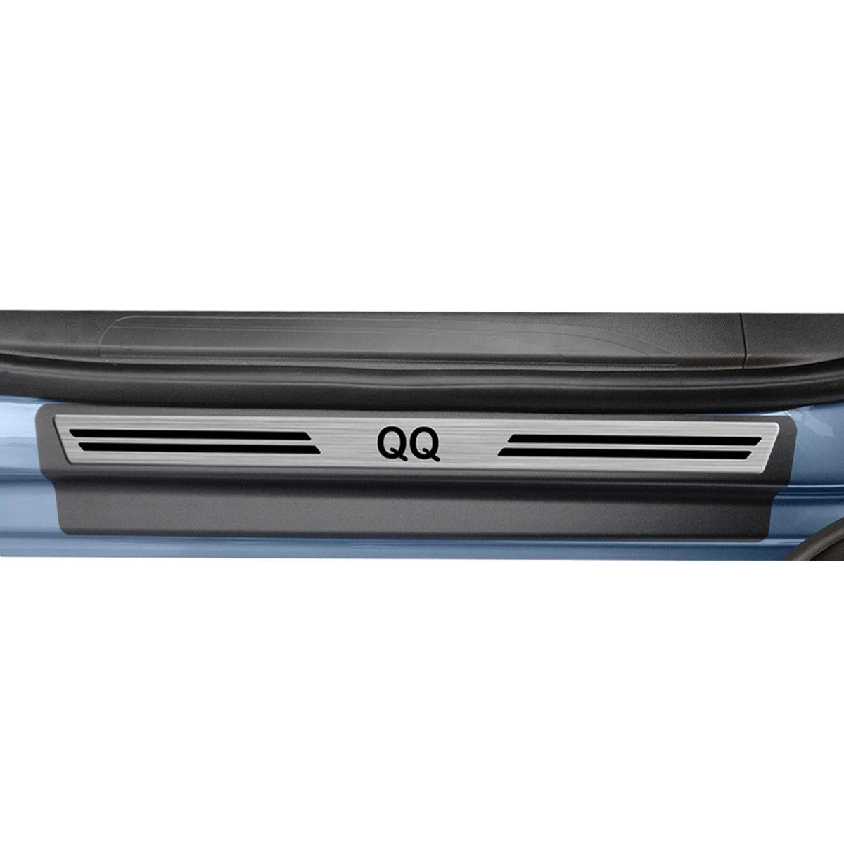 Soleira de Porta QQ 2018 em diante Resinada Modelo Aço Escovado