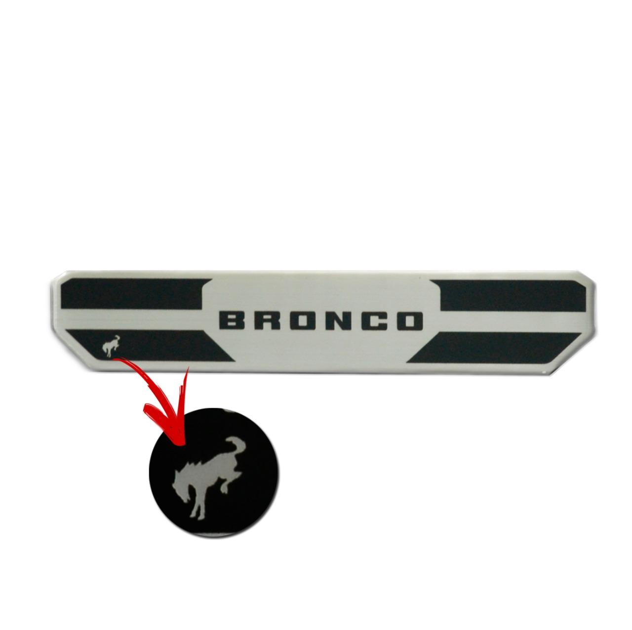 Soleira Porta Bronco Resinada Premium Aço Escovado NP