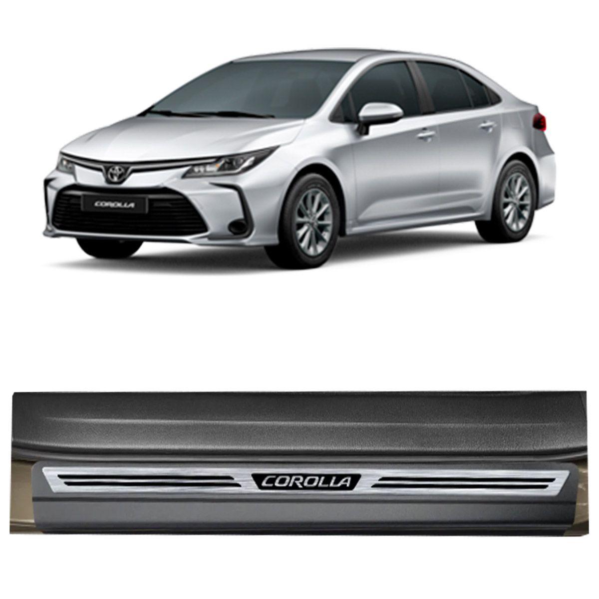 Soleira Premium Aço Escovado Toyota Corolla 2020 em diante
