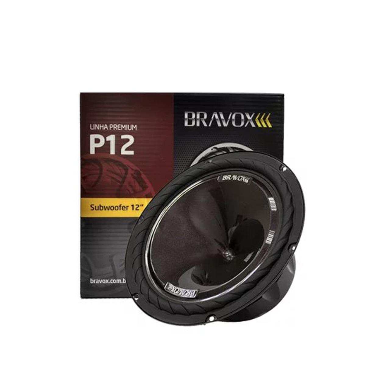 Subwoofer Bravox Premium Plus 12' P12X-D4 220w Rms 4 Ohms