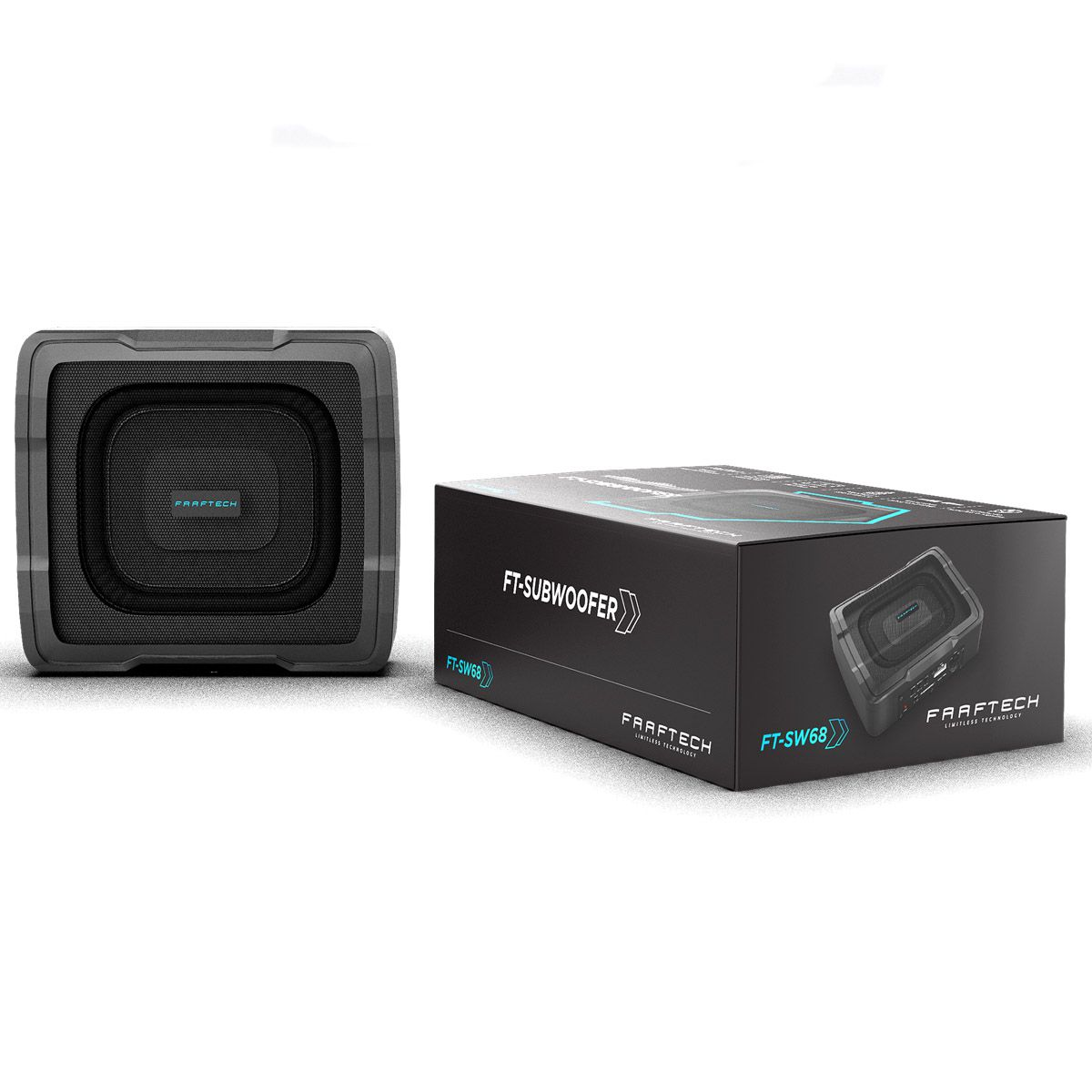 Subwoofer Slim Ativo 100wrms Universal - FT-SW68