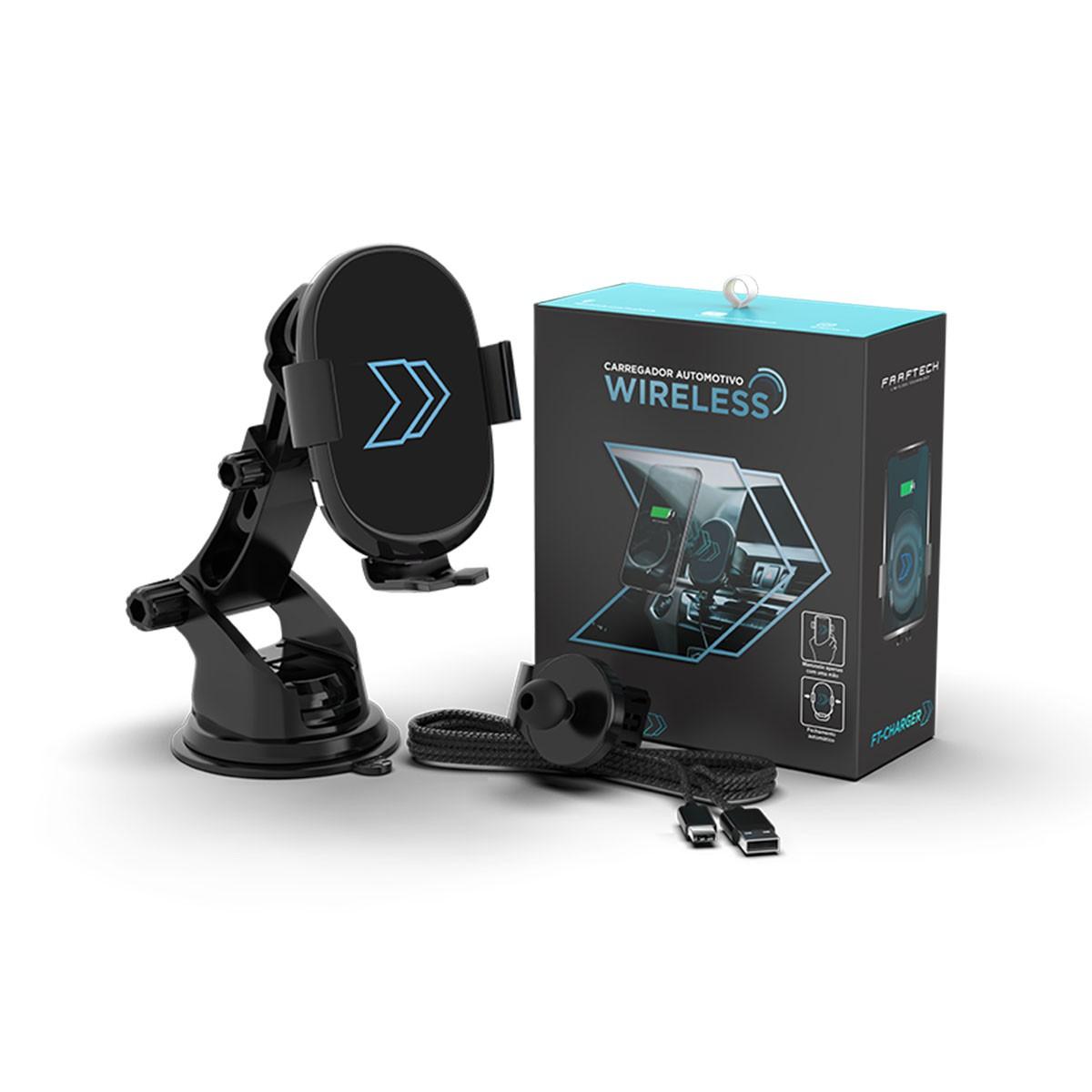 Suporte Celular Com Carregador Inteligente Sem Fio Wireless Faaftech