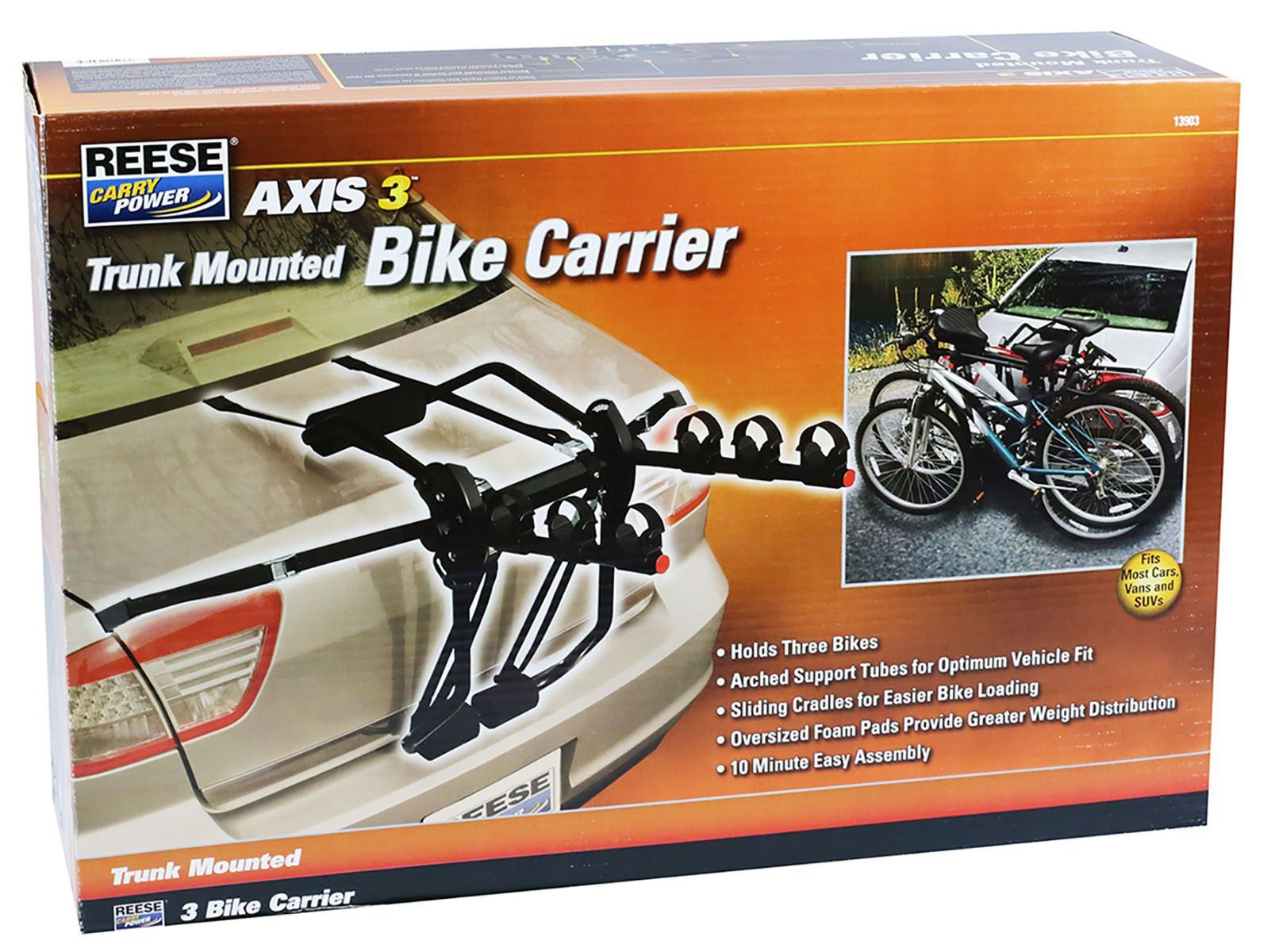 Suporte De Bicicletas Transbike Para Porta Malas Até 3 Bikes Reese