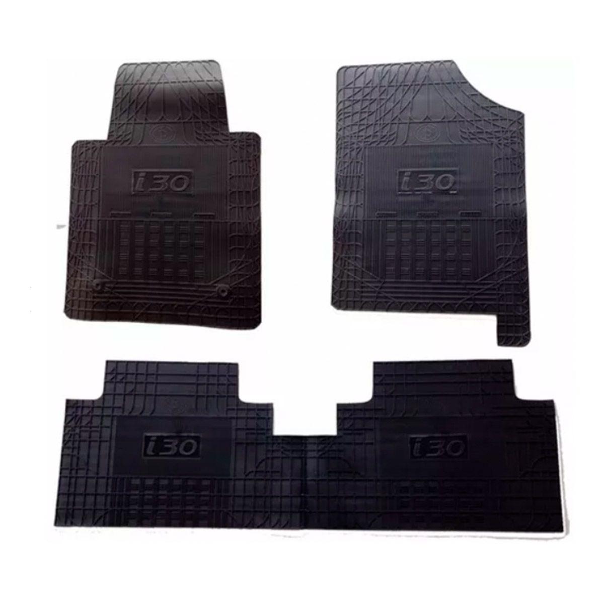 Tapete de Borracha PVC Reforçado Hyundai I30 2013 em diante Tapeplass