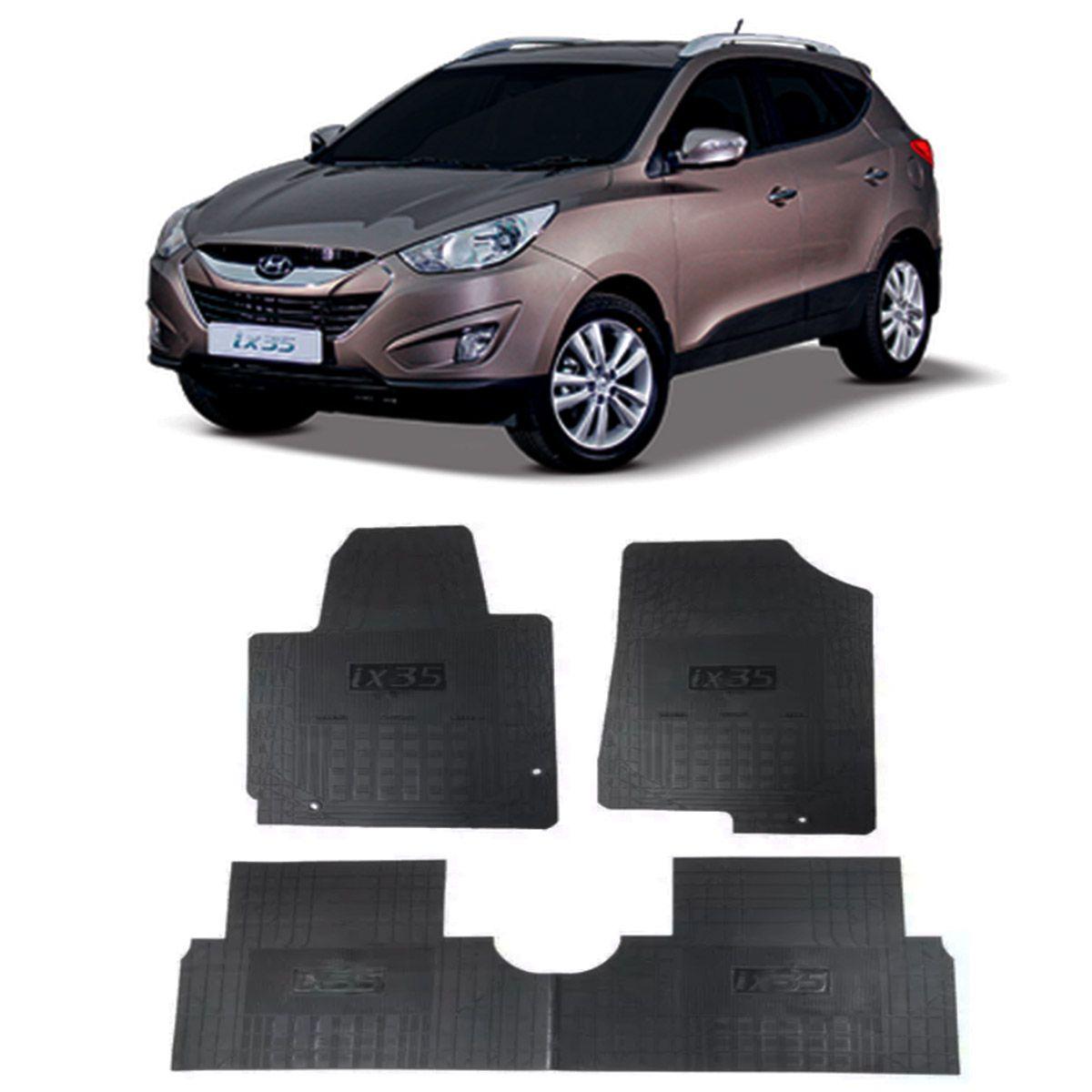 Tapete de Borracha PVC Reforçado Hyundai IX-35 2017 em diante Tapeplass