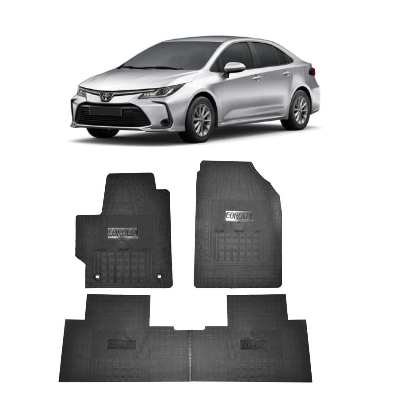 Tapete de Borracha PVC Reforçado Toyota Corolla Tapeplass