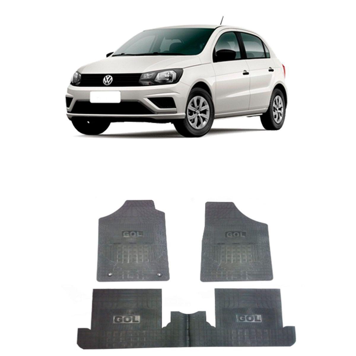 Tapete de Borracha PVC Reforçado Volkswagen Gol 2016 em diante Tapeplass