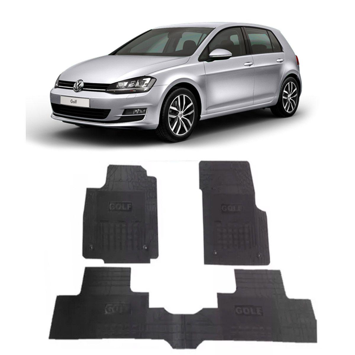 Tapete de Borracha PVC Reforçado Volkswagen Golf 2013 em diante Tapeplass